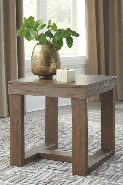Cariton Gray Square End Table