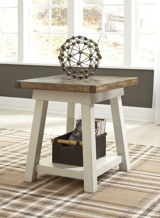 Stownbranner Two Tone Rectangular End Table