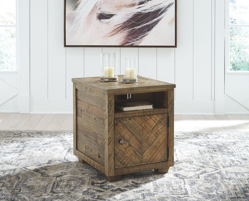 Grindleburg Grayish Brown Rectangular End Table