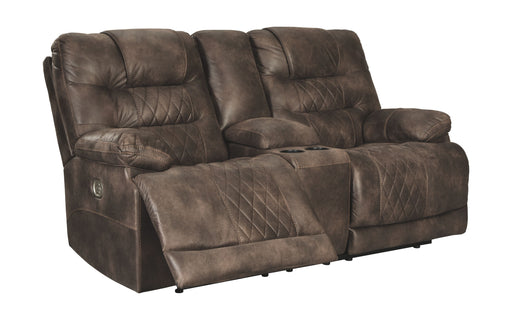 Welsford Walnut Power Reclining Loveseat