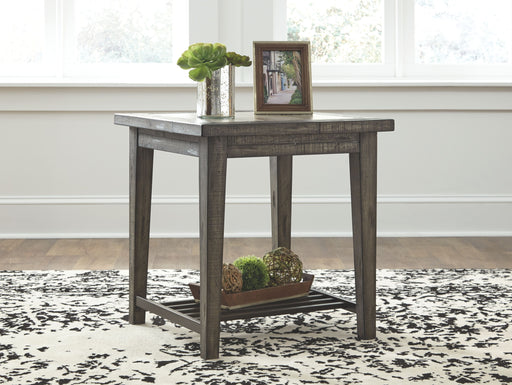 Mavenry Grayish Brown Square End Table