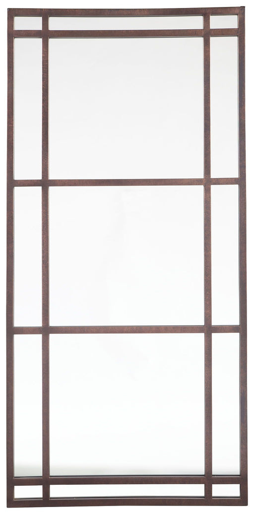Eddard Antique Brown Floor Mirror