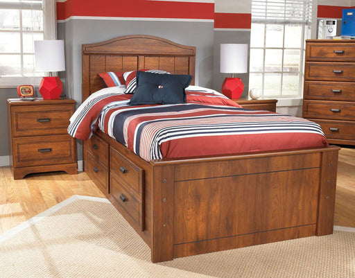 Barchan Medium Brown Full Panel Bed with Under Bed Storage