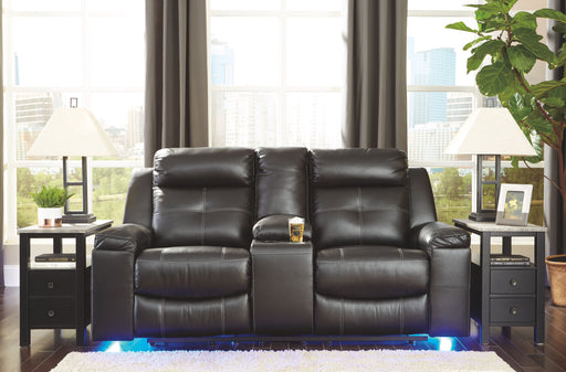 Kempten Black Reclining Loveseat