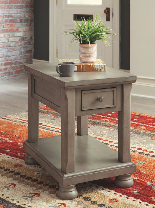 Lettner Gray Rectangular End Table