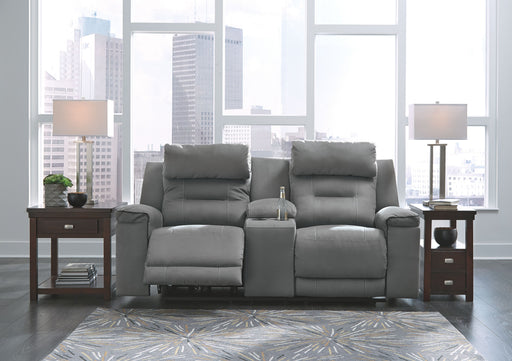 Trampton Smoke Power Reclining Loveseat