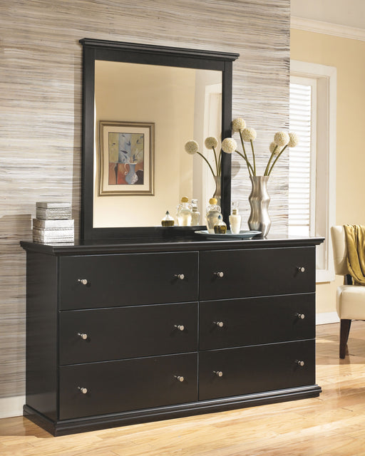 Maribel Black Dresser and Mirror