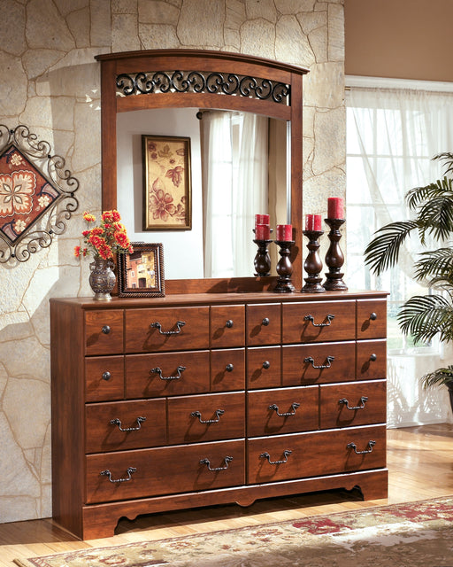 Timberline Warm Brown Dresser and Mirror