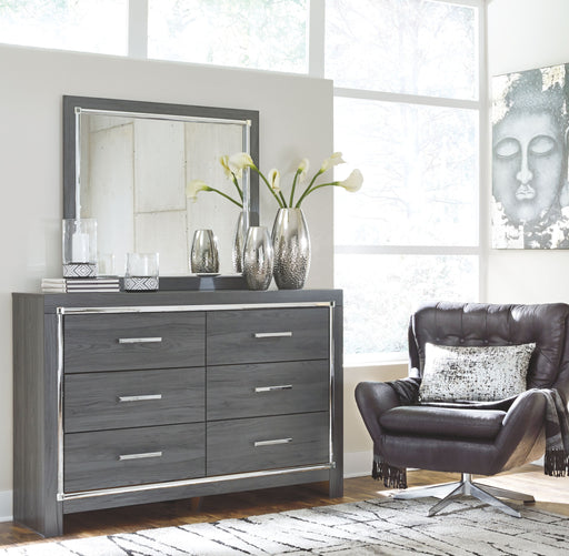 Lodanna Gray Dresser and Mirror