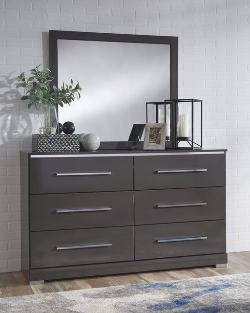 Steelson Gray Dresser and Mirror