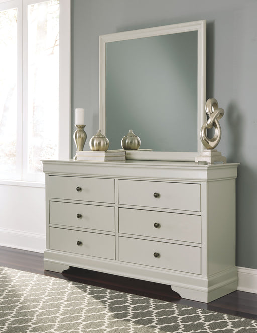 Jorstad Gray Dresser and Mirror