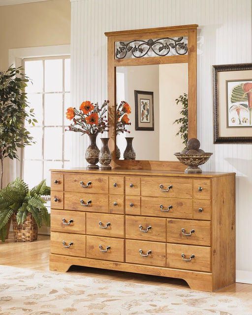 Bittersweet Light Brown Dresser and Mirror