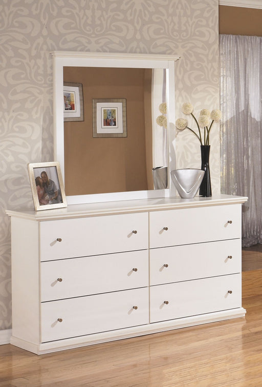 Bostwick Shoals White Dresser and Mirror
