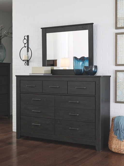 Brinxton Black Dresser and Mirror