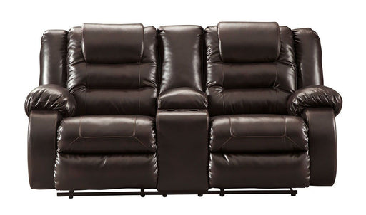 Vacherie Chocolate Reclining Loveseat
