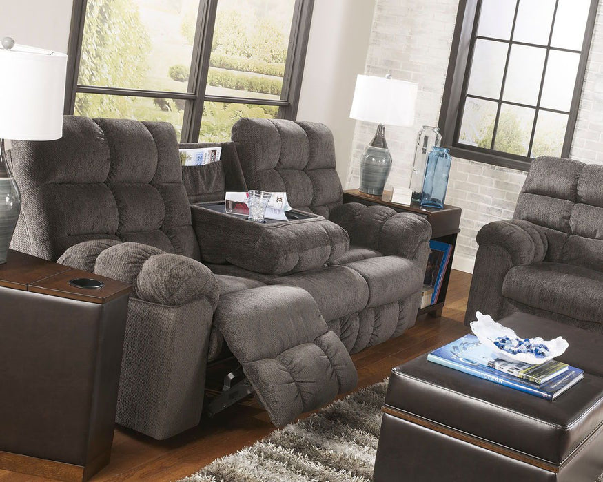 Tremendous Acieona Slate Reclining Sofa With Drop Down Table Reclining Loveseat With Console Machost Co Dining Chair Design Ideas Machostcouk