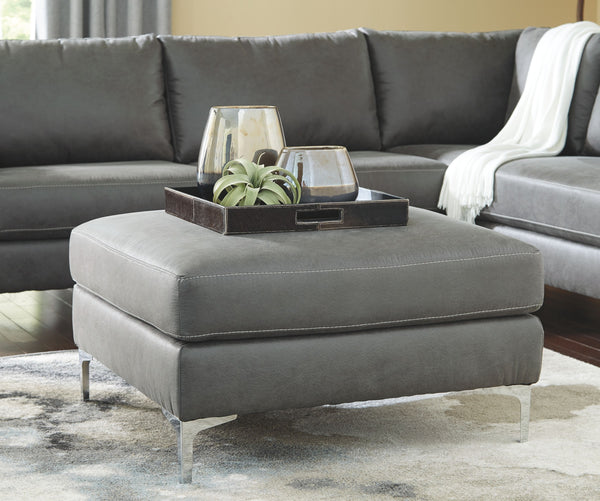 Ryler Charcoal Oversized Accent Ottoman