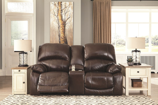 Hallstrung Chocolate Power Reclining Loveseat