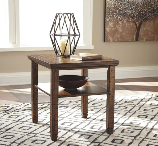 Royard Brown Rectangular End Table