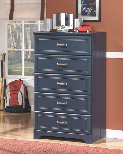 Leo Blue Five Drawer Chest