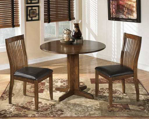 Stuman Medium Brown 3 Piece Round Dining Set