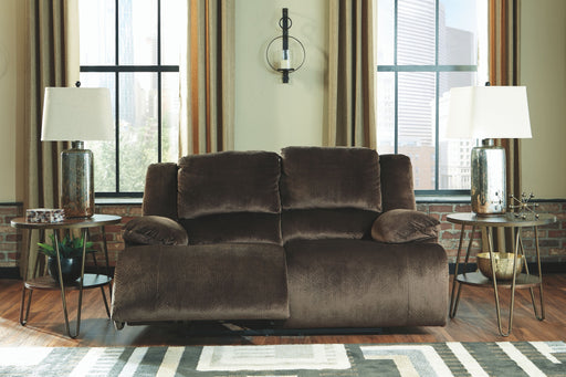 Clonmel Chocolate Reclining Loveseat