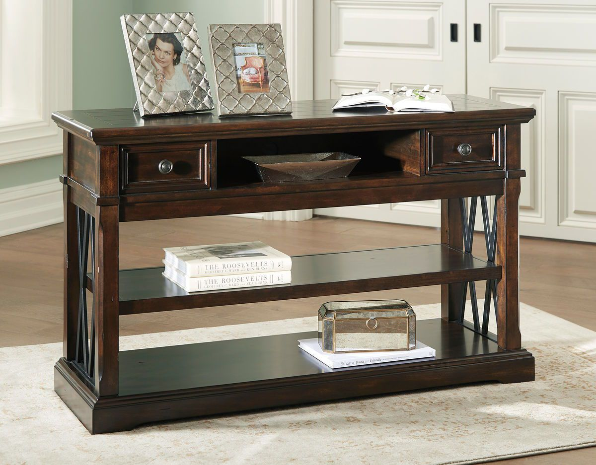 Roddinton Dark Brown Sofa Table