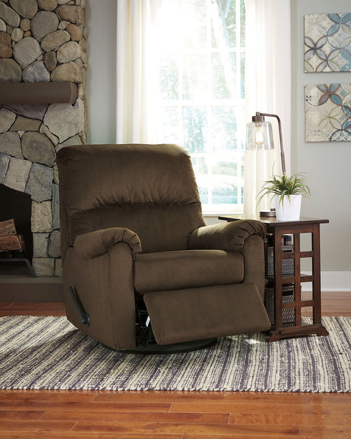 Bronwyn Alloy Swivel Glider Recliner & Brausen End Table