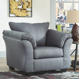 Darcy Steel Chair with Ottoman