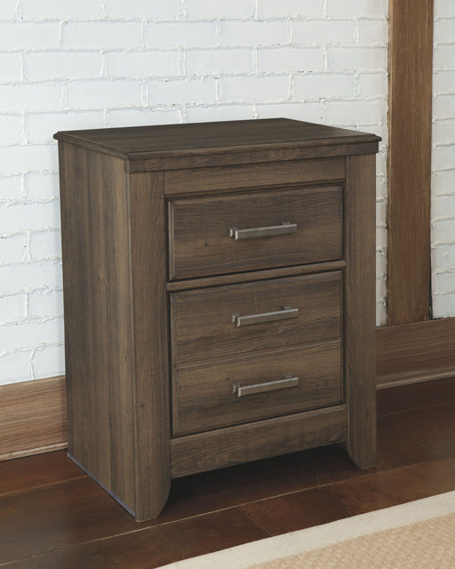 Juararo Dark Brown Two Drawer Night Stand
