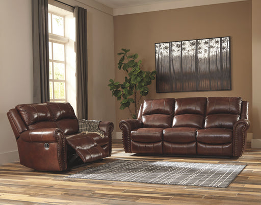 Bingen Harness Leather 2 Piece Living Room Set