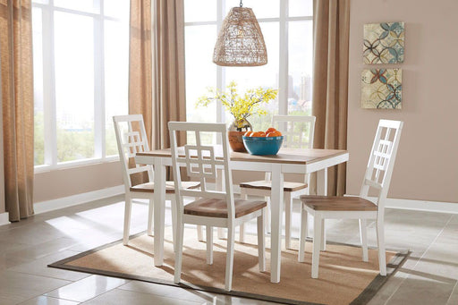 Brovada Two Tone 5 Piece Dining Room Set