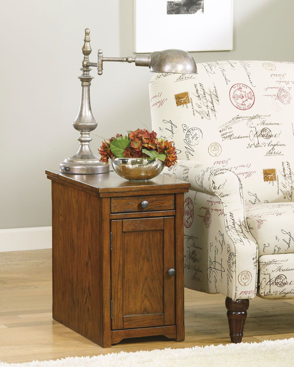 Laflorn Brown Chair Side End Table