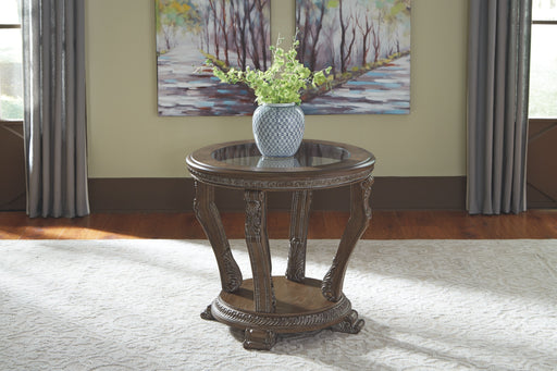 Charmond Brown Round End Table