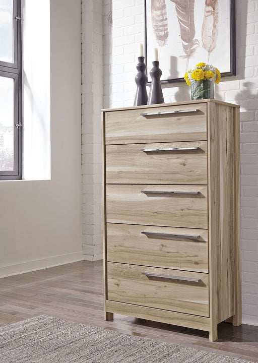 Kianni Taupe Five Drawer Chest