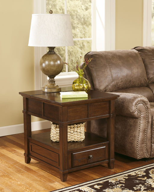 Gately Medium Brown Rectangular End Table