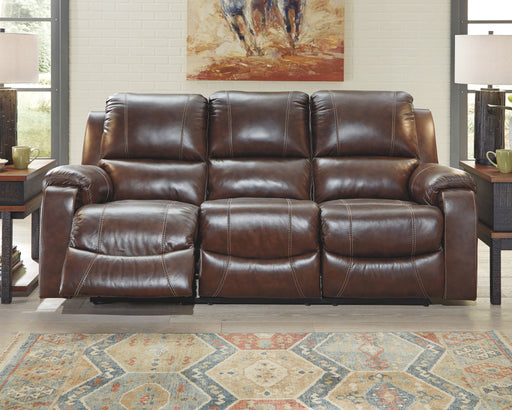 Rackingburg Mahogany Reclining Power Sofa