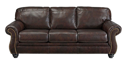 Bristan Walnut Leather Sofa
