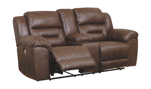 Stoneland Chocolate Power Reclining Loveseat