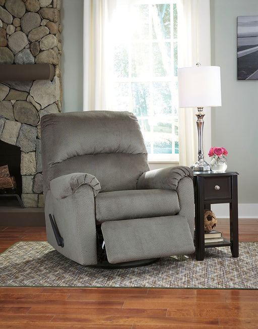 Bronwyn Alloy Swivel Glider Recliner & Breegin End Table