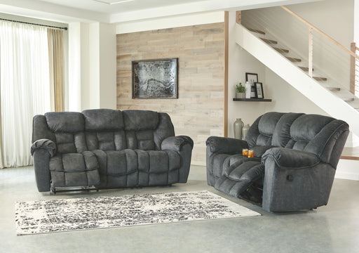 Capehorn Granite Reclining Sofa & Reclining Loveseat with Console