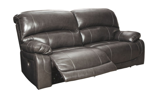 Hallstrung Gray Leather Power Sofa