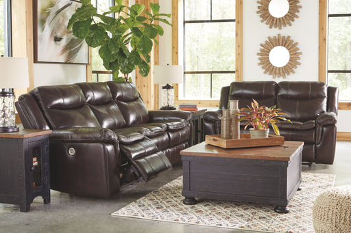 Lockesburg Canyon Reclining Power Sofa & Reclining Power Loveseat