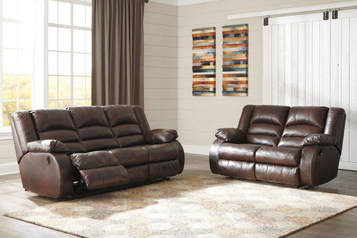 Levelland Cafe Leather 2 Piece Living Room Set
