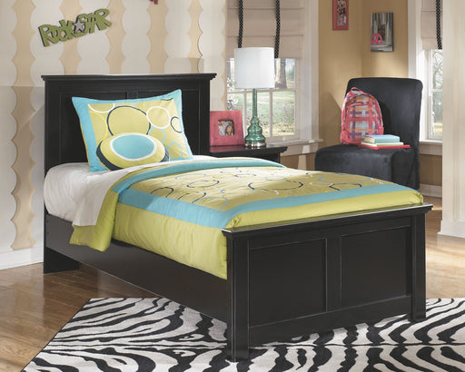 Maribel Black Twin Panel Bed