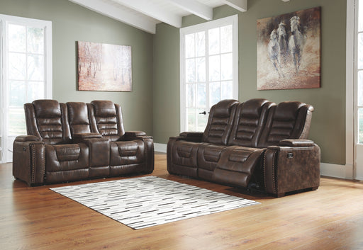 Game Zone Bark Power Reclining Sofa and Loveseat with Adjustable Headrests