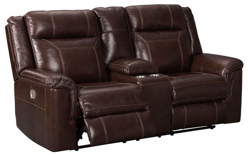 Wyline Coffee Leather Power Love Seat