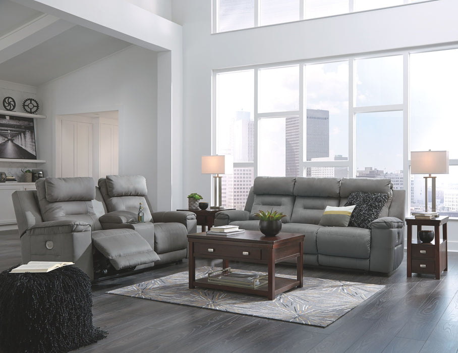 Marvelous Trampton Smoke Power Reclining Sofa And Loveseat With Adjustable Headrests Onthecornerstone Fun Painted Chair Ideas Images Onthecornerstoneorg