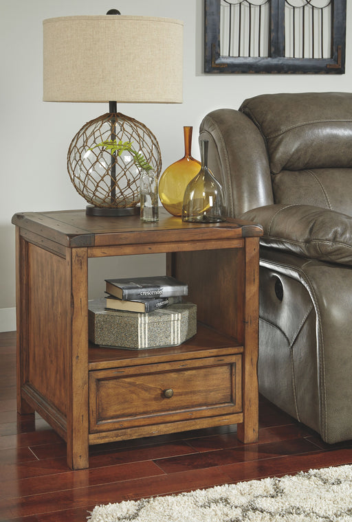 Tamonie Medium Brown Square End Table