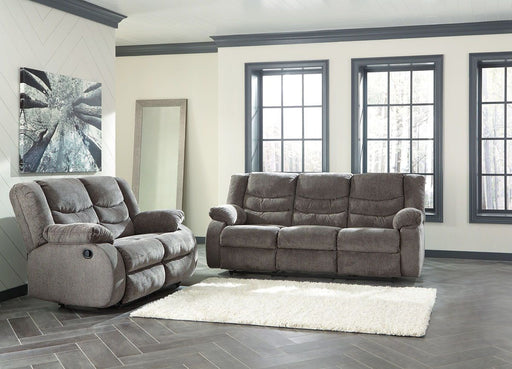 Tulen Gray Reclining Sofa & Reclining Loveseat